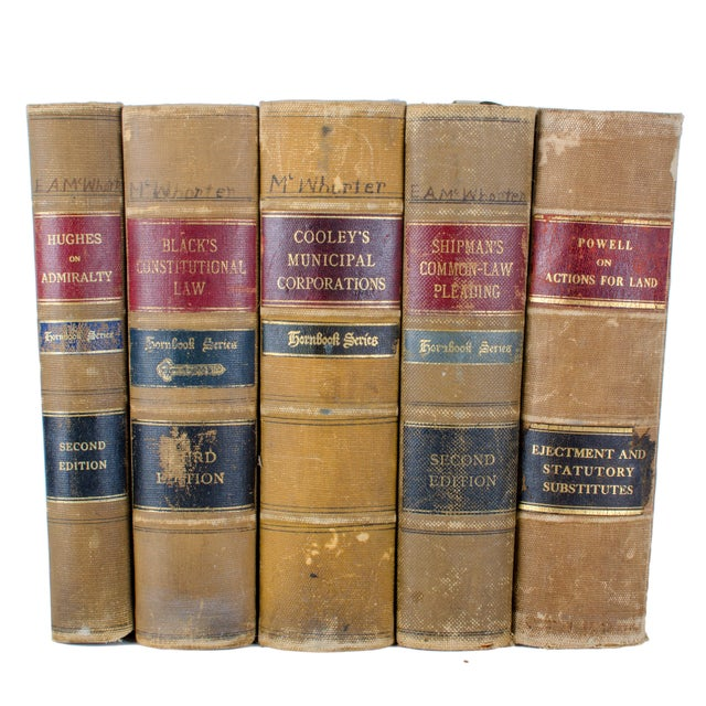 Antique Hornbook Series Law Books - Set of 5 For Sale - Image 4 of 6