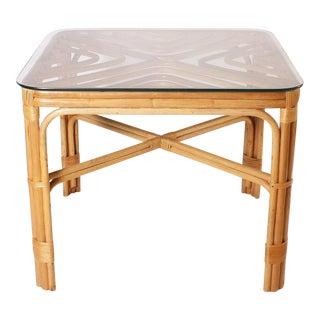 Brown Jordan Rattan Table, C. 1960 For Sale