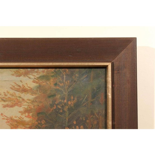 Early 20th Century Framed Dutch Impressionist Autumn Landscape For Sale - Image 5 of 6