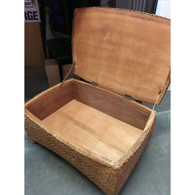 Wicker Center Table/Trunk with Storage - Image 4 of 7