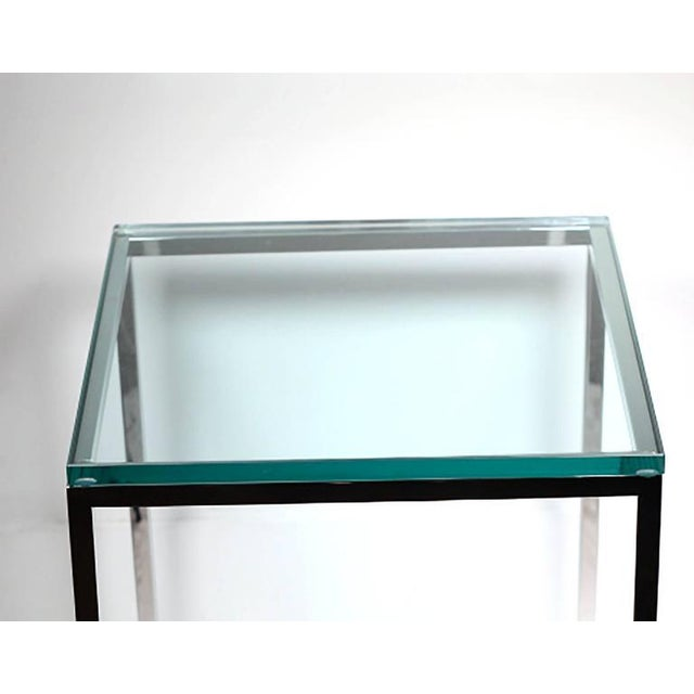 Polished Chrome and Glass Side Table by Brueton C. 1974 - Image 4 of 4