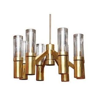 Vintage Brass Sciolari For Lightolier Chandelier