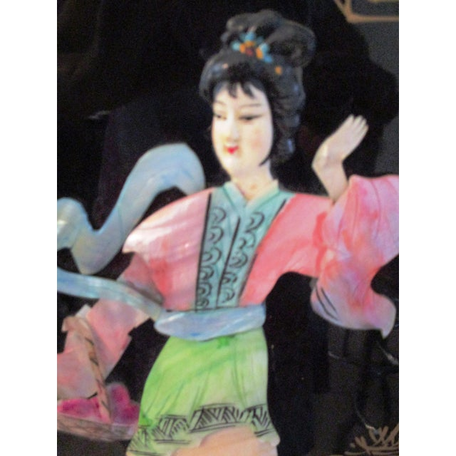 Mid-Century Japanese Mother-Of-Pearl Panels - A Pair For Sale - Image 5 of 10