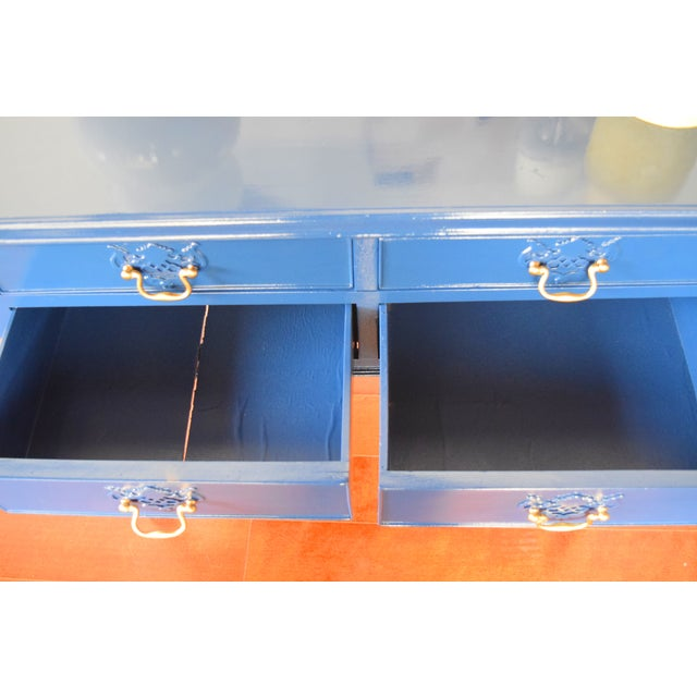 Blue Entryway Console Table For Sale - Image 9 of 9