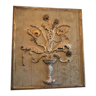 French Architectural Flower Panel