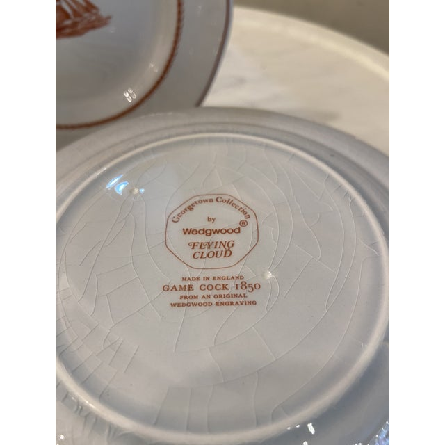 Wedgwood 1980s Wedgwood Flying Cloud Rust Dessert Plates- Set of 8 For Sale - Image 4 of 8