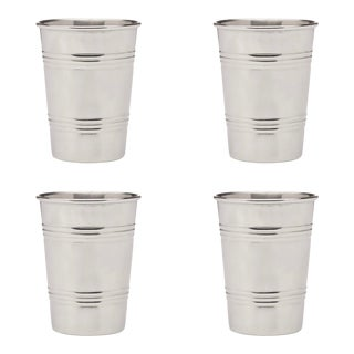"""""""Plastic Cup"""" in Stainless Steel Large - Set of 4 For Sale"""