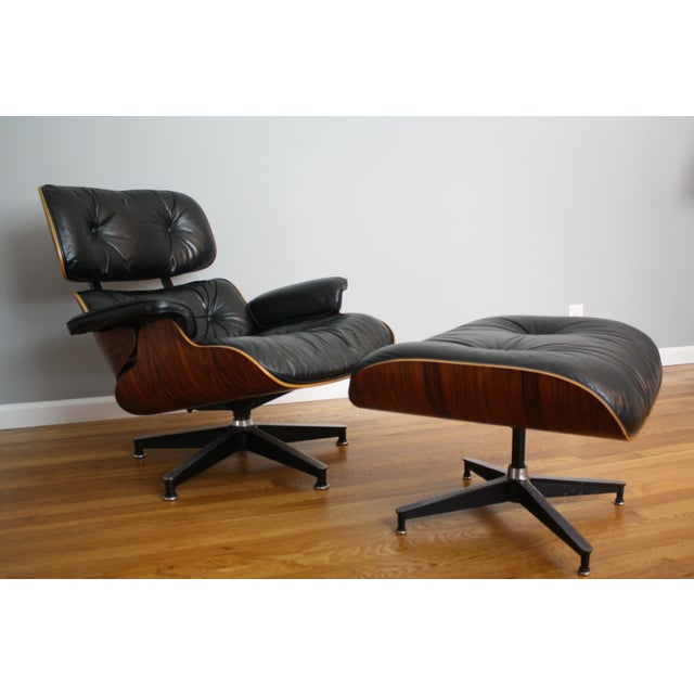 Charles and Ray Eames for Herman Miller 670 & 671 Rosewood Lounge Chair - a Pair - Image 2 of 11