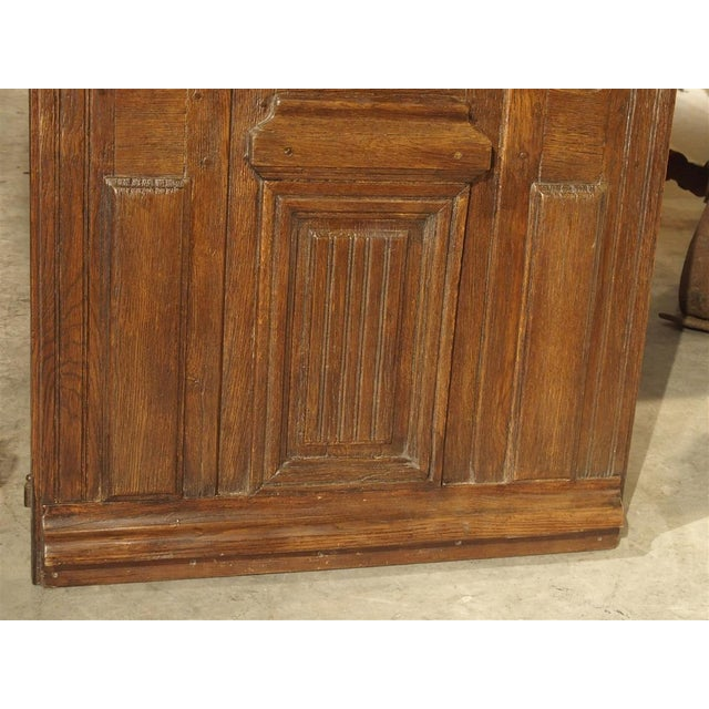 French Early 1900s French Louis XIV Style Oak Entry Door For Sale - Image 3 of 11