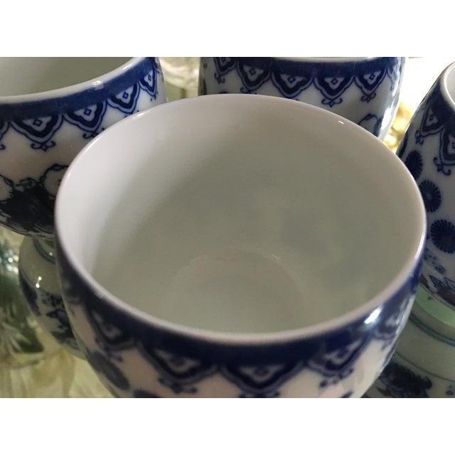 Blue & White Porcelain Tea Cups - Set of 4 - Image 7 of 8