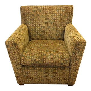 Maurice Villency Mid-Century Modern Upholstered Arm Club Chair For Sale