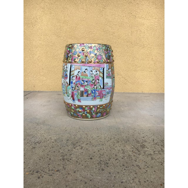 Contemporary Chinoiserie Garden Stool For Sale - Image 4 of 12