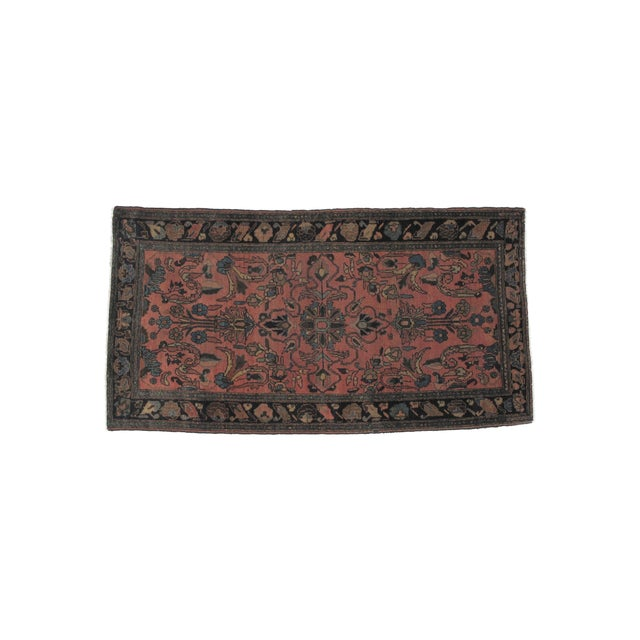 """Antique Persian Lillihan Wool Rug - 6'6"""" x 3'6"""" For Sale"""