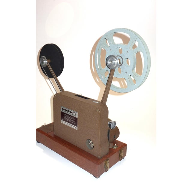 Alligator Circa 1940's Sound and Picture Movie Projector. Art Deco Design. All Original 16mm Artifact For Sale - Image 7 of 13