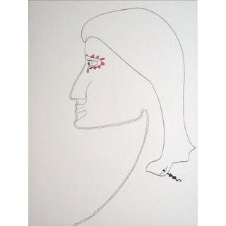 Late 20th Century Surrealist Portrait For Sale