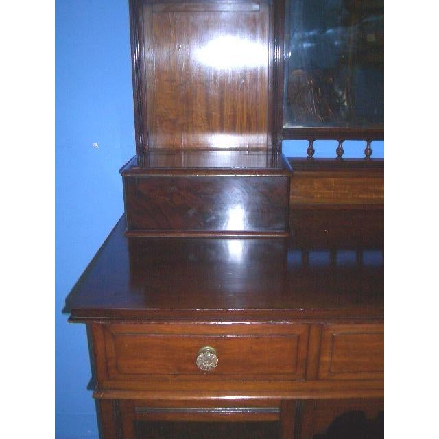 1900s Antique English Mahogany Vanity Dressing Table For Sale - Image 5 of 7