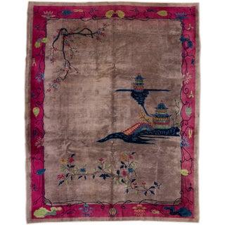 Apadana Chinese Art Deco Rug - 9′ × 11′6″ For Sale