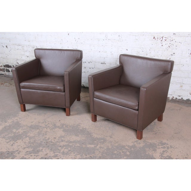 Mid-Century Modern Ludwig Mies Van Der Rohe for Knoll Studio Krefeld Leather Club Chairs, Pair For Sale - Image 3 of 9