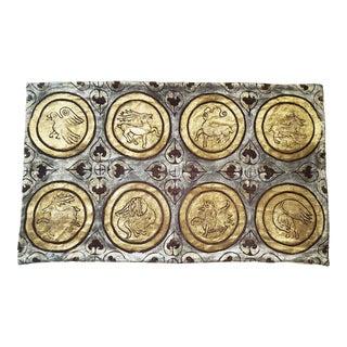 Fresco Silk Velvet Pillow Cover For Sale
