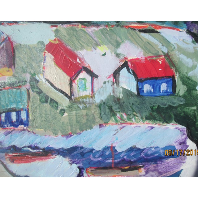 Contemporary Seaside Village Monterey Contemporary Painting For Sale - Image 3 of 6