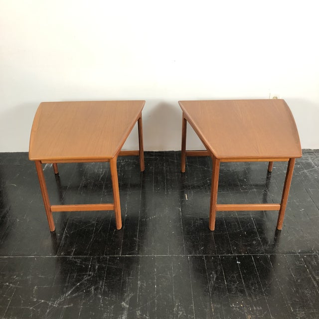 Mid-Century Modern 1960's Teak Frisco Designed by Folke Ohlsson Tables - a Pair For Sale - Image 3 of 13