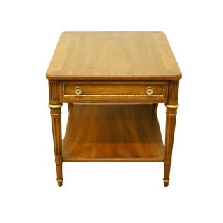 1960s Italian Heritage Furniture Banded Accent Table For Sale