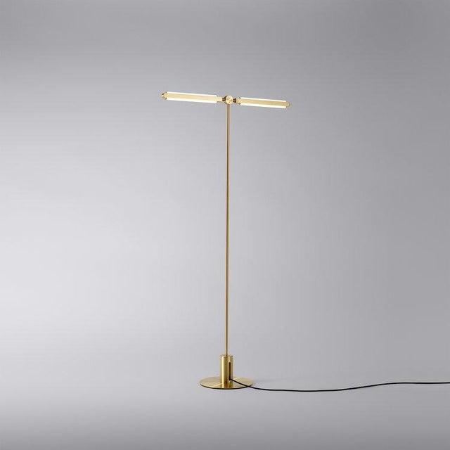 Radnor Pelle Pris T Floor Lamp For Sale - Image 4 of 6