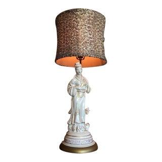 Vintage Asian Geisha Table Lamp For Sale