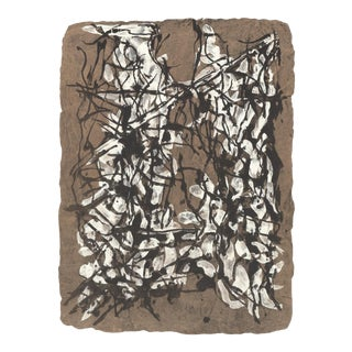 """JEAN-PAUL RIOPELLE Composition 160-XIV 15"""" x 11"""" Lithograph 1966 Abstract Multicolor, Brown - a Pair For Sale"""