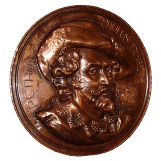 Copper Rondel Plaque of Peter Paul Rubens For Sale