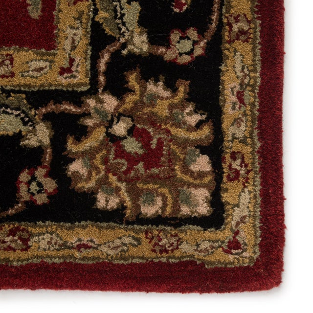 Jaipur Living Anthea Handmade Floral Red Black Round Area Rug 8'X8' For Sale - Image 4 of 6