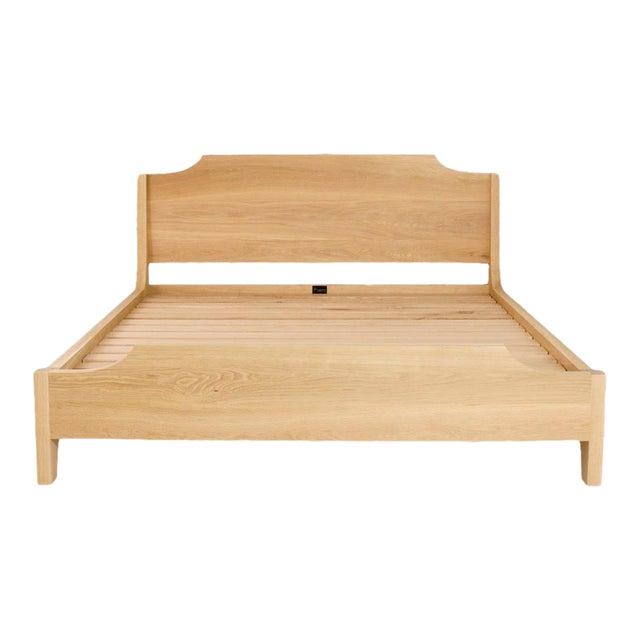 Modern Oak Hoff Queen Bedframe For Sale