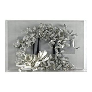1970's Mid-Century Modern Greg Copeland Paper Wall Sculpture For Sale