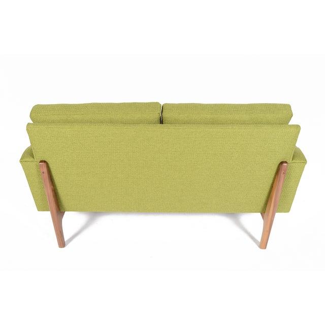 """Mid-Century Style """"Piedmont"""" Sofa in Avocado - Image 5 of 10"""