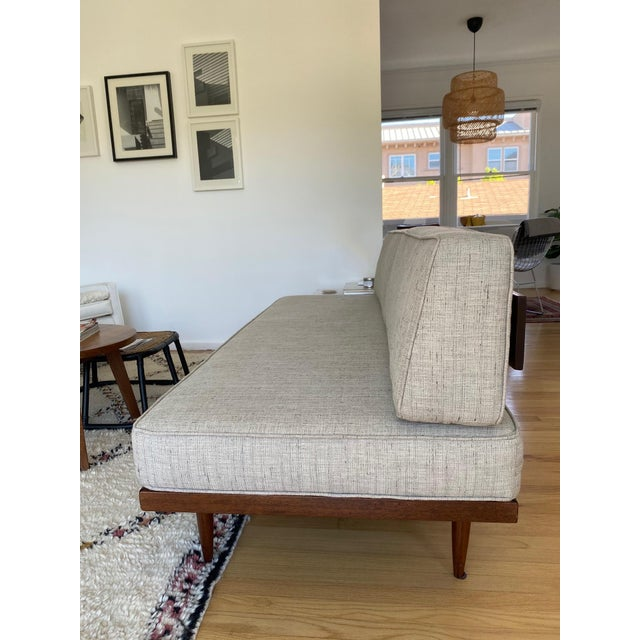 Mid-Century Gray Sofa For Sale - Image 10 of 13
