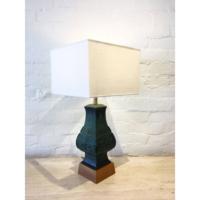 Bronze Table Lamps in the Manner of James Mont - A Pair - Image 3 of 9