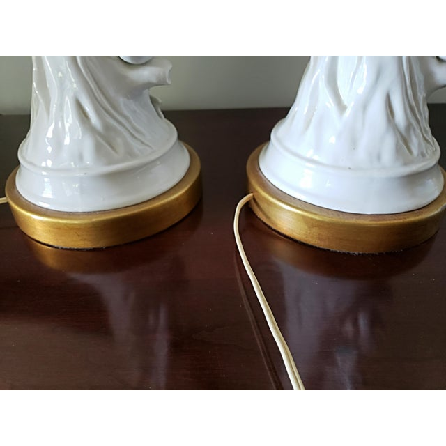 Marbro Faux Bois, Blanc De Chine Table Lamps - a Pair For Sale - Image 10 of 12