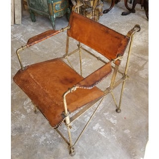 Ilana Goor Bronze and Leather Arm Chair Preview