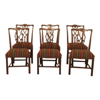 Kindel Chippendale Mahogany Dining Chairs- Set of 6 For Sale