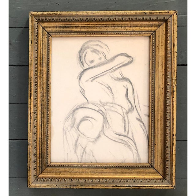 Collection of 3 Original Vintage Female Nude Life Study Drawings Framed 14 x 16 11 x 13.5 & 14.5 x 16.5 Approx Wall...