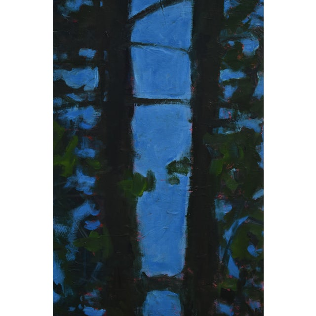 """Abstract """"Blue Punctuation"""" Abstract Painting For Sale - Image 3 of 10"""