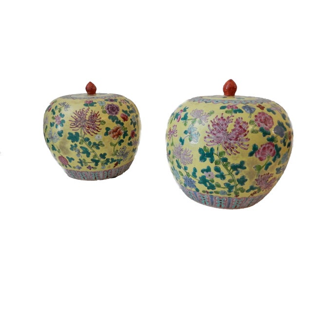 Famille Jaune Ginger Jars - A Pair - Image 2 of 8