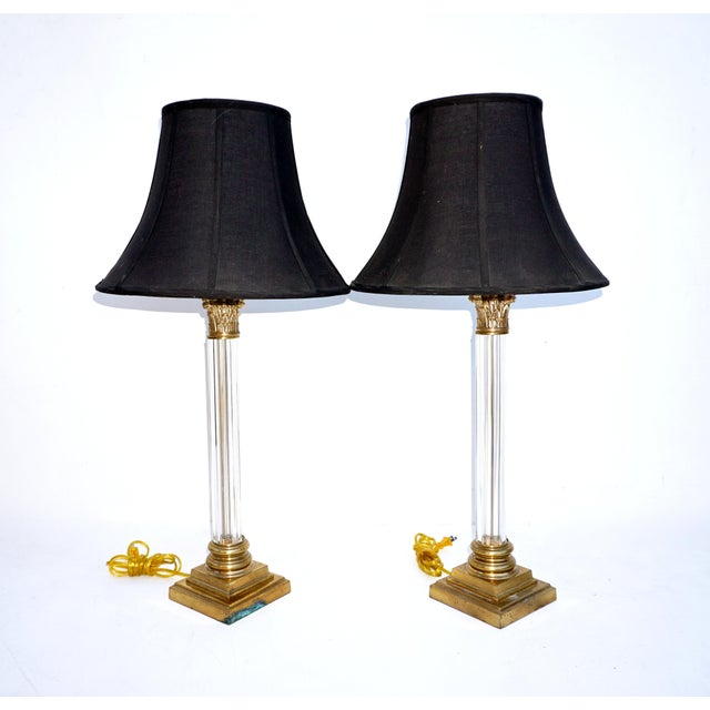 Frederick cooper brass lucite table lamps chairish frederick cooper brass lucite table lamps for sale image 11 of 11 aloadofball Choice Image