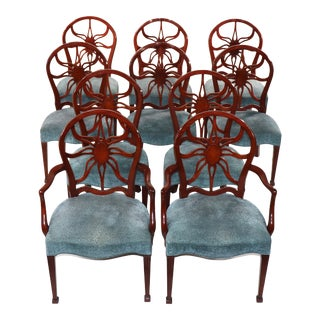 Set of 10 George III Style Mahogany Dining Chairs For Sale