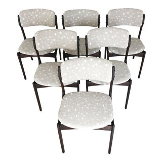 Mid-Century Modern Erik Buch Restored and Tanned Oak Dining Chairs - Set of 8 For Sale