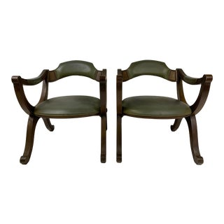 Mid Century Drexel Heritage X Frame Chairs - a Pair For Sale