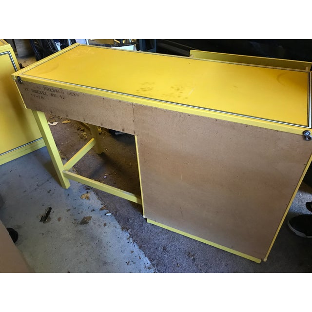 1960s Vintage Drexel Flower Power Desk For Sale - Image 5 of 5