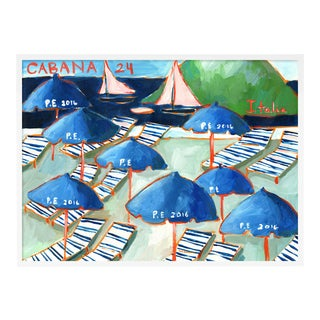 Cabanas 24 by Lulu DK in White Framed Paper, Medium Art Print