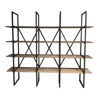 Contemporary Restoration Hardware Wyatt Metal & Wood Bookshelf