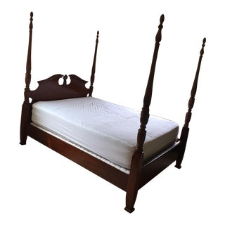 Antique Mahogany Queen Four Poster Bed For Sale